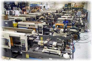 injection molding production floor