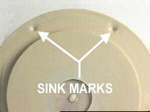 injection molding sink mark