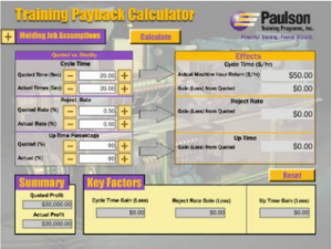 injection molding ROI Calculator
